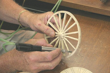 Shaping the Wheels with Pneumatic Engraving Tool