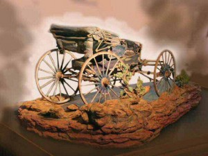 """Resting in Redrock"" - Custom Wooden Buggy Sculpture by Darwin Dower"